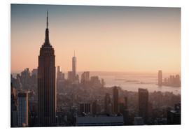 Hartschaumbild  Sonnenuntergang in New York - Images Beyond Words