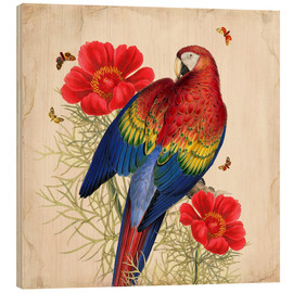 Holzbild  Oh My Parrot III - Mandy Reinmuth