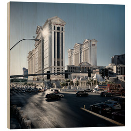 Holzbild  Las Vegas strip - Richard Grando