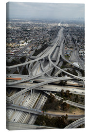Leinwandbild  Autobahnen in Los Angeles - David Wall