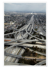 Poster  Autobahnen in Los Angeles - David Wall