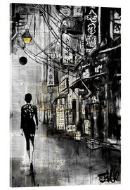 Acrylglasbild  Spaziergang durch Chinatown - Loui Jover