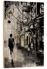 Holzbild  Spaziergang durch Chinatown - Loui Jover