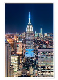 Premium-Poster  Empire State Building by Night - Sascha Kilmer