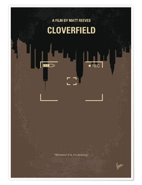 Poster No203 My Cloverfield minimal movie poster