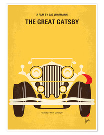 Premium-Poster No206 My The Great Gatsby minimal movie poster