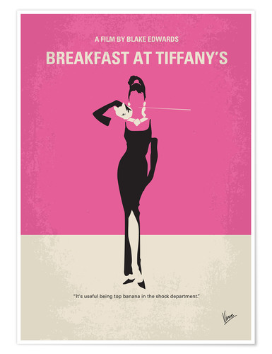Premium-Poster No204 My Breakfast at Tiffanys minimal movie poster