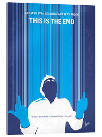 Acrylglasbild  No220 My This is the end minimal movie poster - chungkong