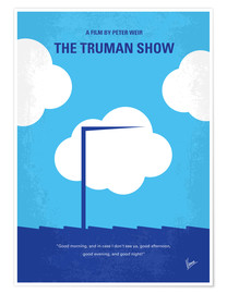 Premium-Poster No234 My Truman show minimal movie poster