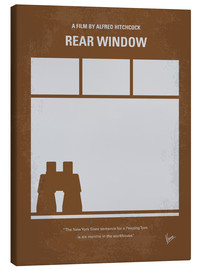 Leinwandbild  No238 My Rear window minimal movie poster - chungkong