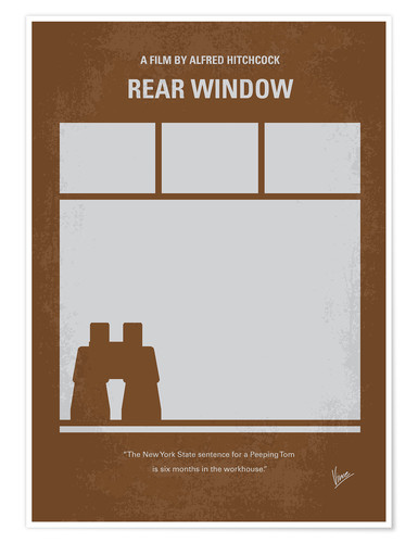 Poster No238 My Rear window minimal movie poster