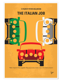 Premium-Poster No279 My The Italian Job minimal movie poster