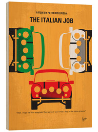 Holzbild  No279 My The Italian Job minimal movie poster - chungkong