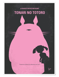 chungkong - No290 My My Neighbor Totoro minimal movie poster
