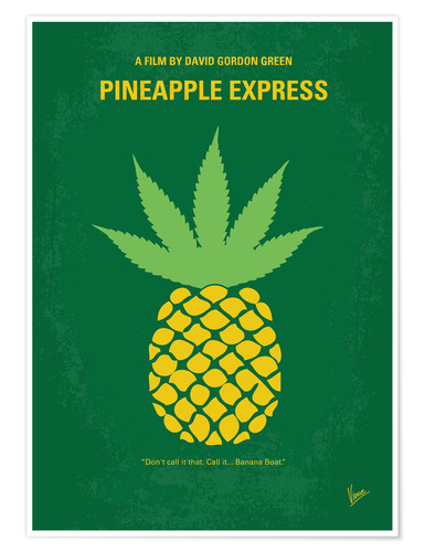 Poster No264 My PINEAPPLE EXPRESS minimal movie poster