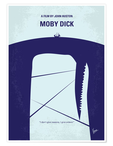 Premium-Poster No267 My MOBY DICK minimal movie poster