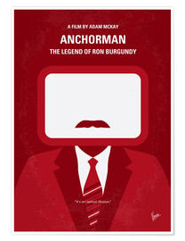 Poster No278 My anchorman minimal movie poster