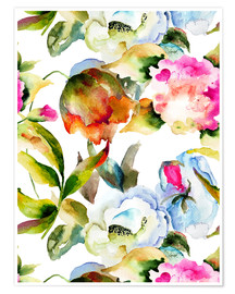 Wildblumen in Aquarell
