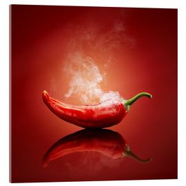 Acrylglasbild  Red Hot Chili Stillleben - Johan Swanepoel
