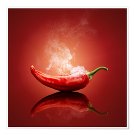 Premium-Poster Red Hot Chili Stillleben
