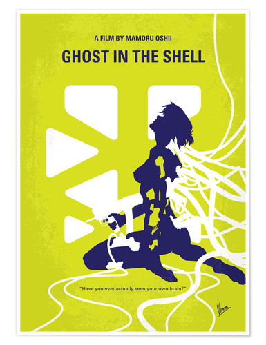 Premium-Poster No366 My Ghost in the Shell minimal movie poster