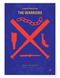Premium-Poster No403 My The Warriors minimal movie poster