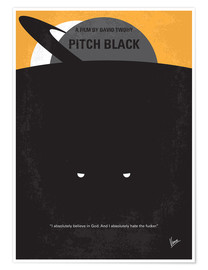 Premium-Poster Pitch Black