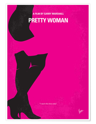 Premium-Poster No307 My Pretty Woman minimal movie poster