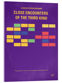Acrylglasbild  No353 My ENCOUNTERS OF THE THIRD KIND minimal movie poster - chungkong