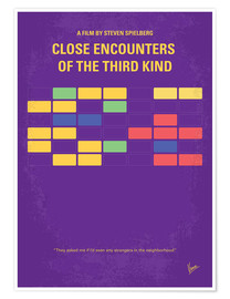 Premium-Poster  No353 My ENCOUNTERS OF THE THIRD KIND minimal movie poster - chungkong