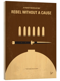 Holzbild  No318 My Rebel without a cause minimal movie poster - chungkong