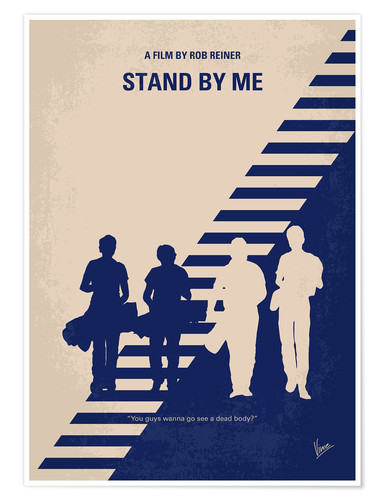 Poster No429 My Stand by me minimal movie poster