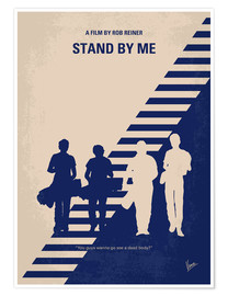 Premium-Poster No429 My Stand by me minimal movie poster