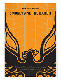 Premium-Poster No398 My smokey and the bandits minimal movie poster