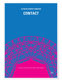 Premium-Poster No416 My Contact minimal movie poster