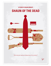 Premium-Poster No349 My Shaun of the Dead minimal movie poster