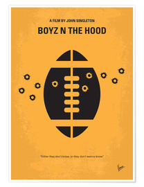 Premium-Poster No352 My Boyz N The Hood minimal movie poster