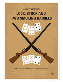 Poster No441 My Lock Stock and Two Smoking Barrels minimal movie poster