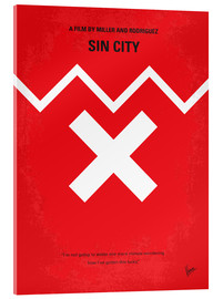 Acrylglas  No304 My SIN CITY minimal movie poster - chungkong