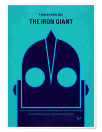 Premium-Poster No406 My The Iron Giant minimal movie poster