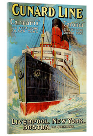 Acrylglasbild  Cunard Line ? Liverpool, New York, Boston - Edward Wright