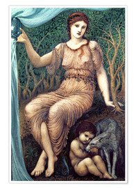 Premium-Poster  Erdmutter - Edward Burne-Jones