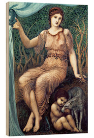 Holzbild  Erdmutter  - Edward Burne-Jones