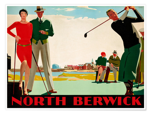 Premium-Poster North Berwick Golf Club