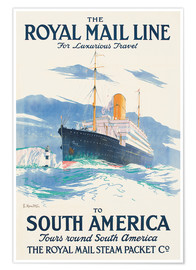Premium-Poster Rhe Royal Mail Line to South America.