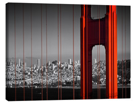 Leinwandbild  Golden Gate Bridge im Detail - Melanie Viola