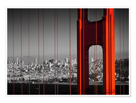 Premium-Poster  Golden Gate Bridge im Detail - Melanie Viola