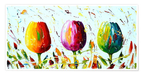 Premium-Poster Tulips Light