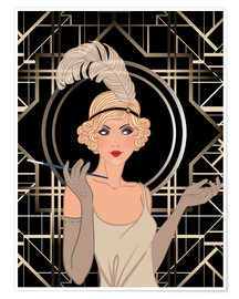 Plakat  Smart flapper girl