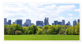 Poster  Central Park mit Manhattan Skyline Panorama, New York
